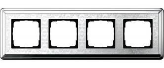Gira 0214681 Рамка установочная 4 поста Gira ClassiX Art хром