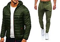 Куртка демисезонная + Штаны + СКИДКА Asos Hot x khaki | Комплект мужской повседневный весенний осенний хаки