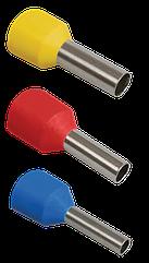 Наконечник-гильза Е1008 1мм2 с изолированным фланцем (уп. - 100 шт.), ІЕК
