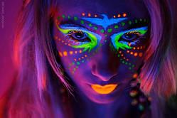 Краска для лица светящаяся в темноте 25 мл микс  (только упаковкой по 24 шт)