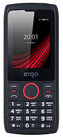 Телефон Ergo F247 Flash Black, фото 1