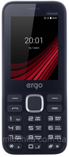 Телефон Ergo F243 Swift Blue