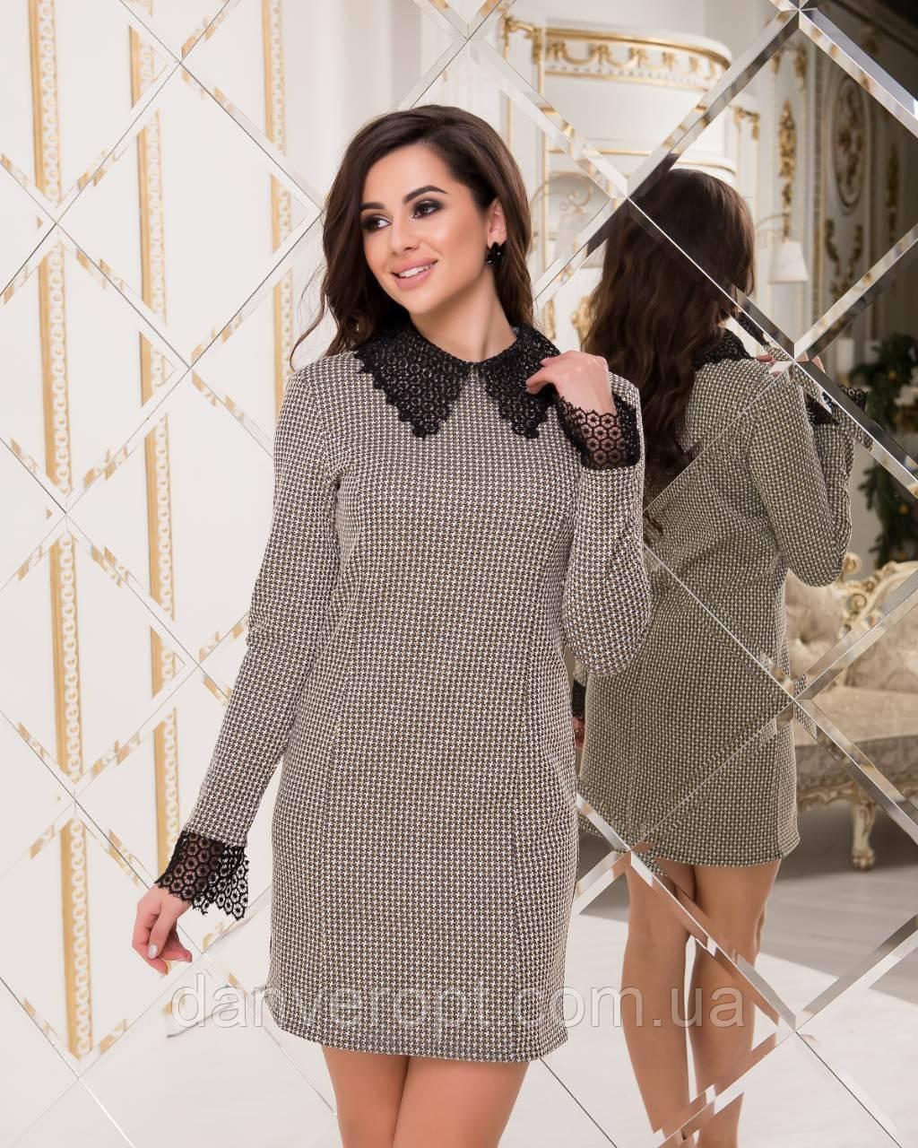 Платье женское модное стильное размер 40-46 купить оптом со склада 7км Одесса