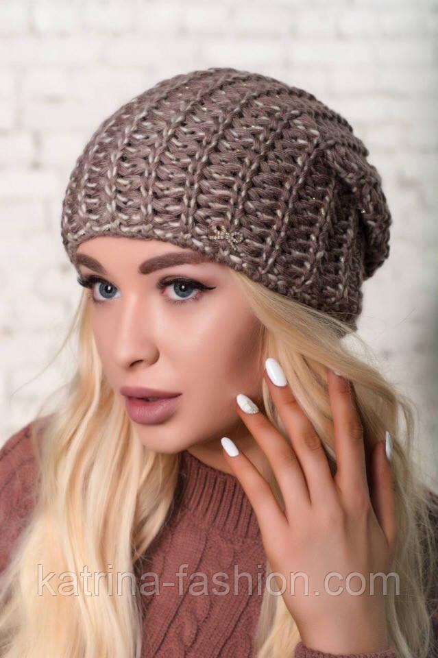 Женская шапка крупной вязки (в расцветках)