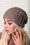 Женская шапка крупной вязки (в расцветках), фото 8