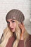 Женская шапка крупной вязки (в расцветках), фото 5