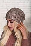 Женская шапка крупной вязки (в расцветках), фото 2