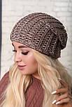 Женская шапка крупной вязки (в расцветках), фото 3