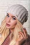 Женская шапка крупной вязки (в расцветках), фото 10