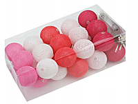 Гирлянда Тайские Шарики  Cotton Balls 30led, диам 6см, длина 500см на батарейках АА - 3шт.
