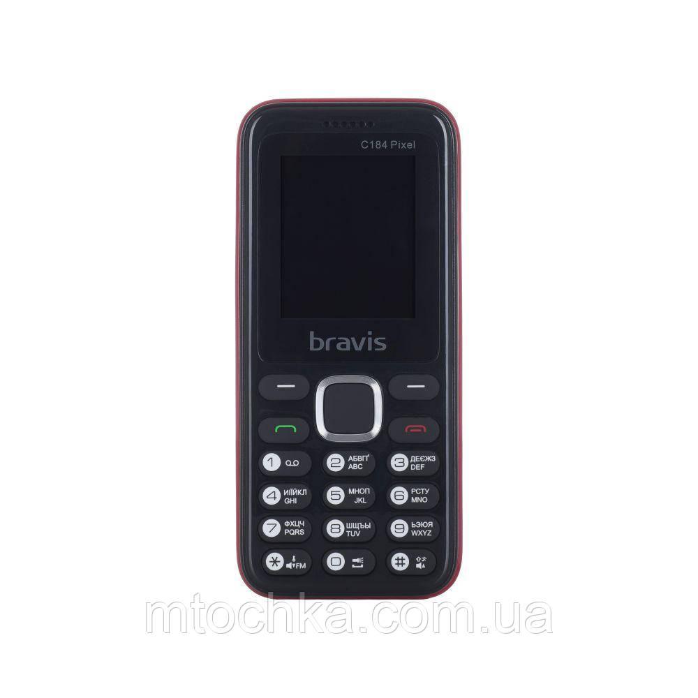 Телефон Bravis C184 Pixel red