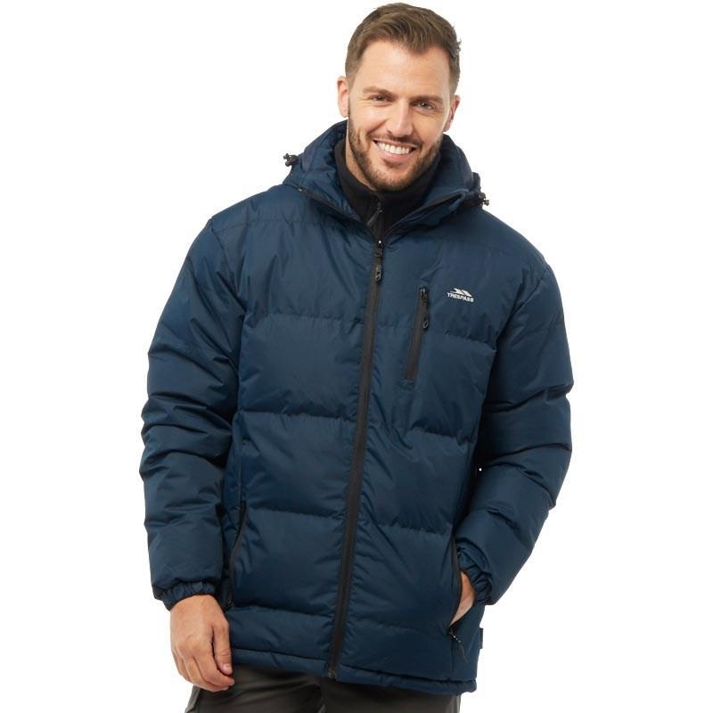 Мужская водонепроницаемая стеганая куртка Trespass Clip Jacket синяя оригинал