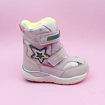 Розовые термо ботинки сапожки для девочки бренд Том.м размер 26, фото 2
