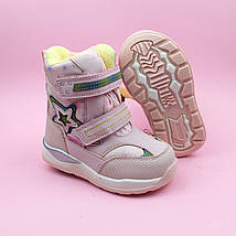 Розовые термо ботинки сапожки для девочки бренд Том.м размер 26, фото 3