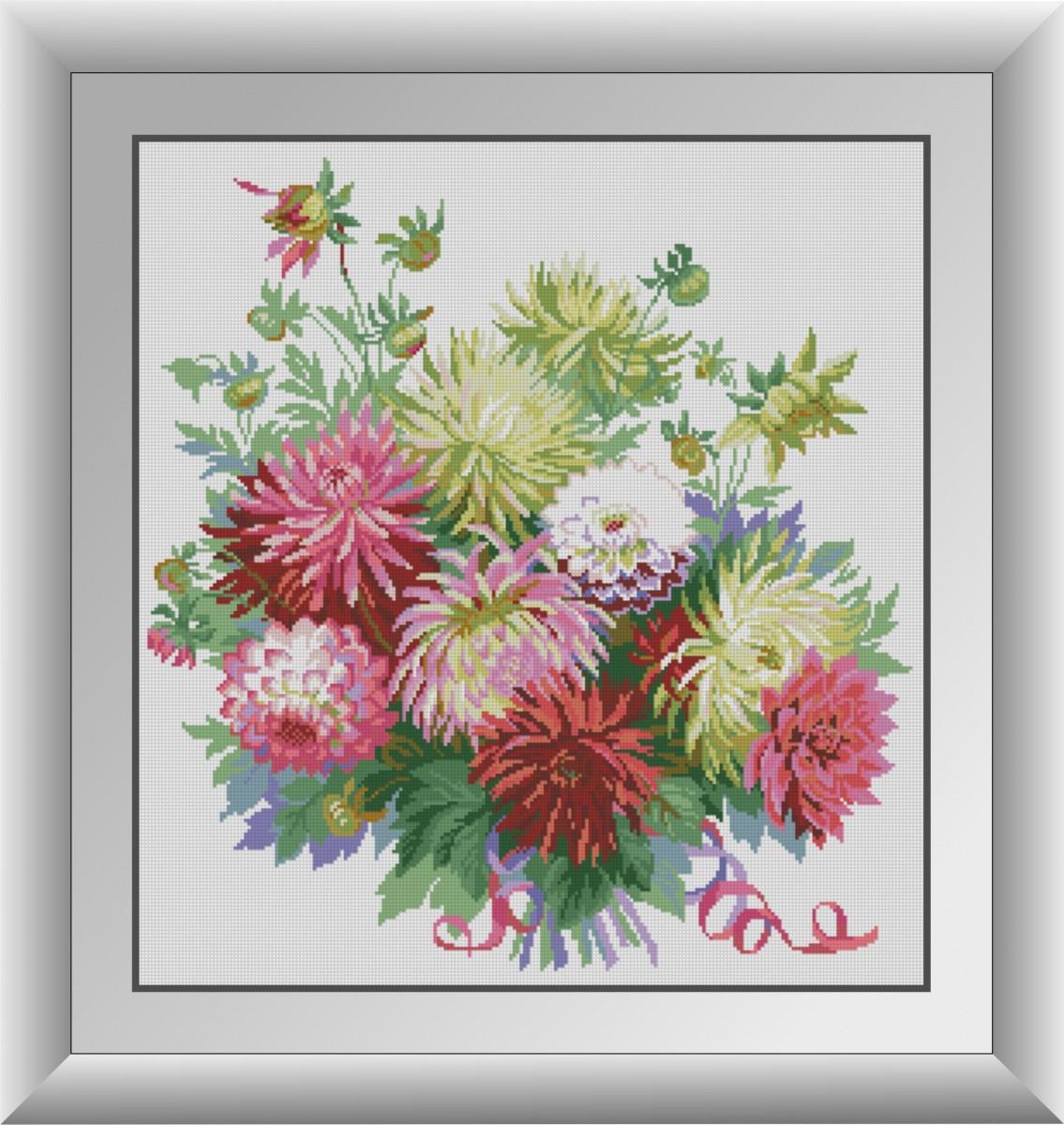 Набор алмазной мозаики Георгины Dream Art 30886 (57 x 61 см)