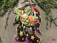 Наклейка Helloween злая ведьма декорации для Хеллоуина