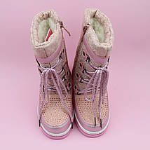 Дутики сапожки для девочки зимние пудра тм Том.м размер 27,28,29, фото 3