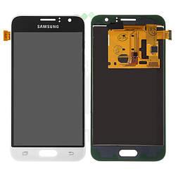 Дисплейный модуль (дисплей и сенсор) для Samsung J120 Galaxy J1 (2016), белый, с регулировкой яркости, (TFT)