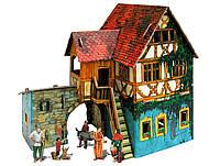 Дом с кораблем, Сборная модель из картона, серии Средневековый город, Умная бумага