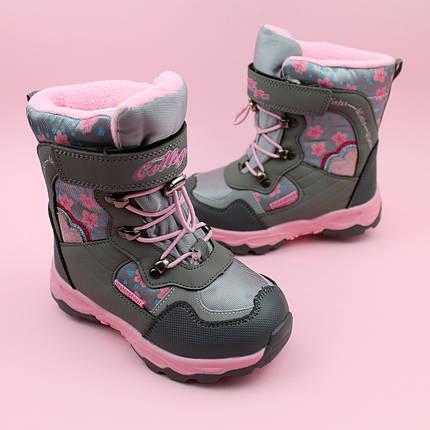 Теплые термо ботинки для девочки серые тм Том.м размер 27,28,29,32, фото 2