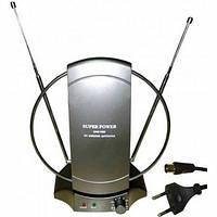 Антенна TВ комнатная c усилителем (ДВ, DVB-T, DVB-T2) ЕМТ