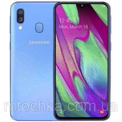 Смартфон Samsung SM-A405F Galaxy A40 2019 4/64GB Duos blue (официальная гарантия)