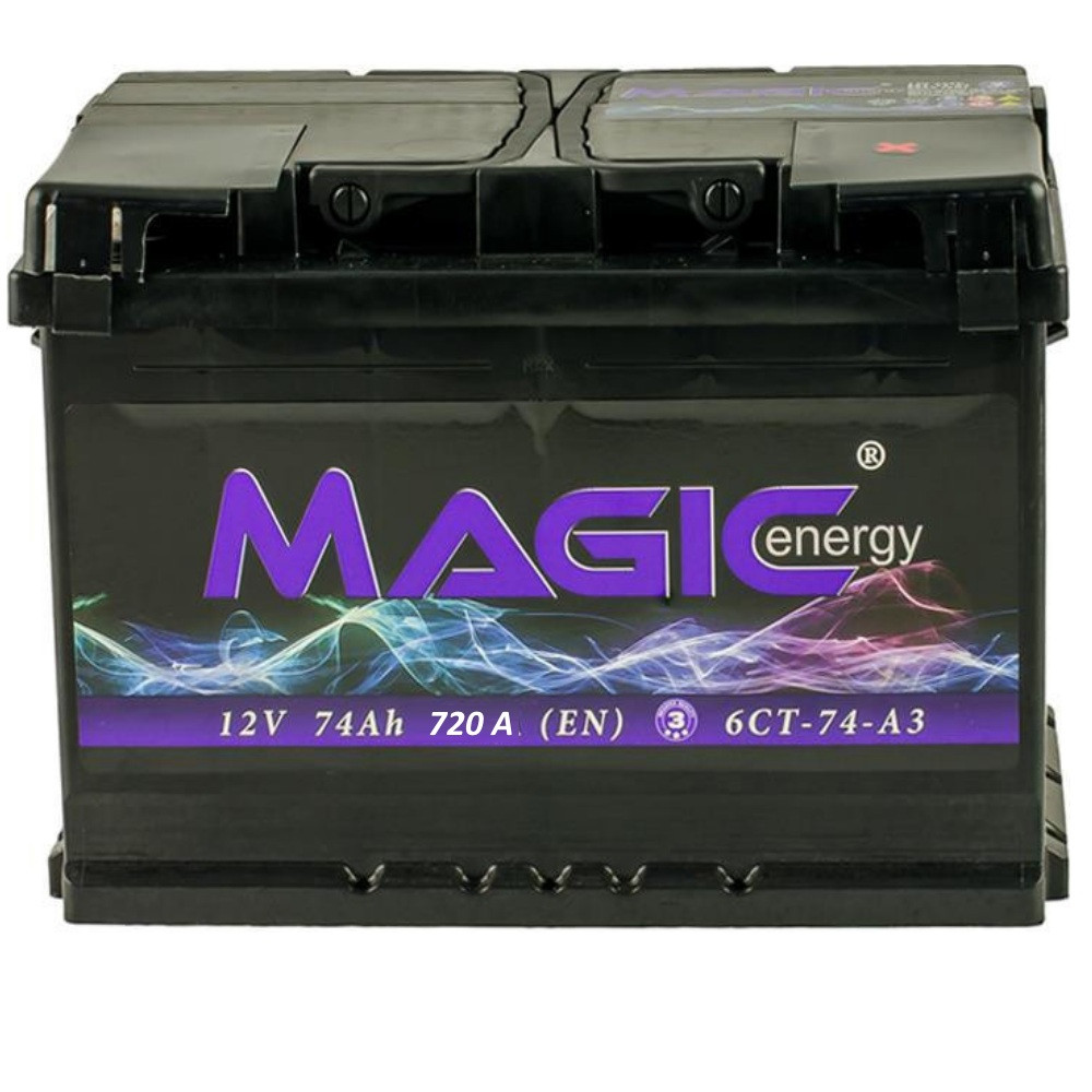 АКБ 6 ст 74 А (720EN) (0) MAGIC ENERGY Євро