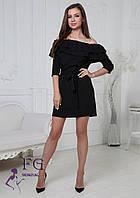 Елегантне плаття з воланами і відкритим плечем