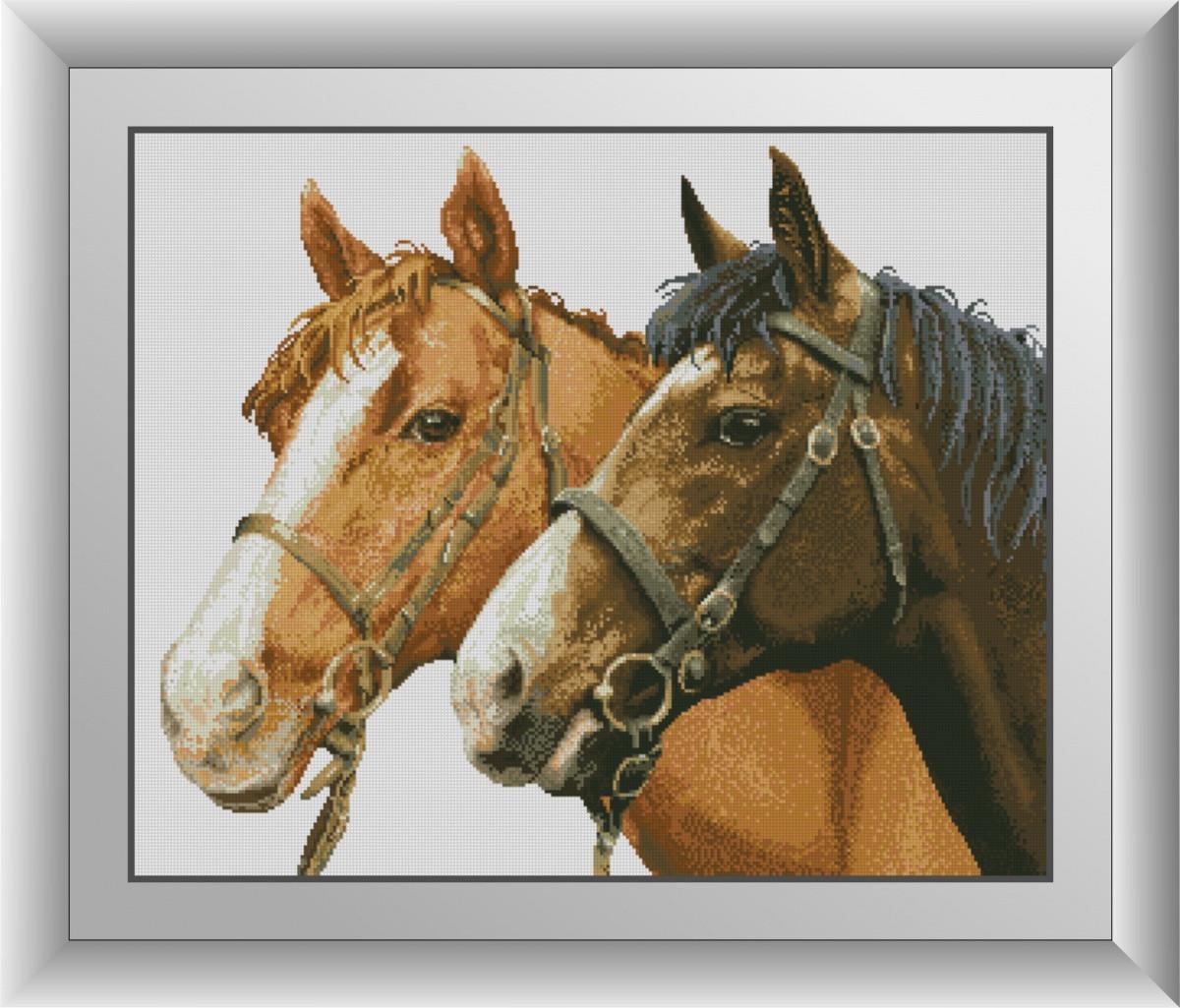 Набор алмазной живописи Пара лошадей Dream Art 30887 (57 x 70 см)
