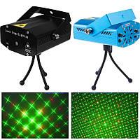Лазерный проектор, стробоскоп, диско лазер UKC HJ09 2 в 1 c триногой