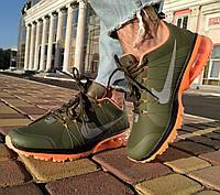 Кроссовки мужские хаки в стиле Nike flywire 2 (размеры в описании) цвета