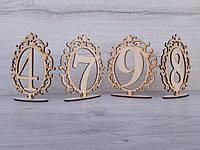 Деревянные цифры на подставке
