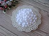 Помпоны - шарики белые с люрексом D - 1 см, 100 шт - 20 грн, 1000 шт - 150 грн., фото 2