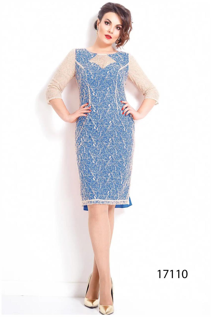 Платье женское Беларусь модель ДЖ-17110 голубое