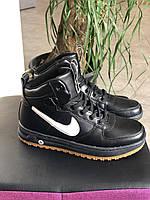 Спортивные кожаные ботинки (высокие кроссовки) Nike air с 36 по 40 размер 37