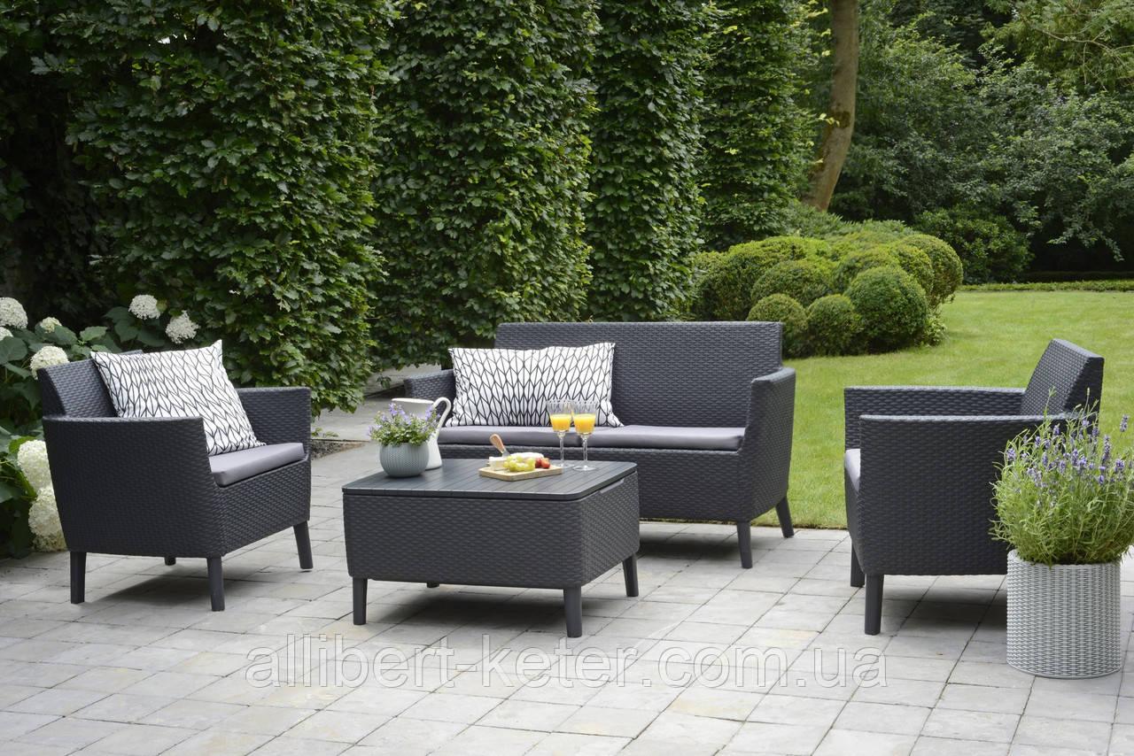 Набор садовой мебели Salemo Set Graphite ( графит ) из искусственного ротанга