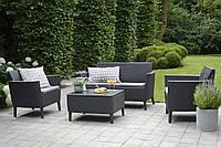 Набор садовой мебели Salemo Set Graphite ( графит ) из искусственного ротанга, фото 1