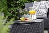 Набор садовой мебели Salemo Set Graphite ( графит ) из искусственного ротанга ( Allibert by Keter ), фото 7
