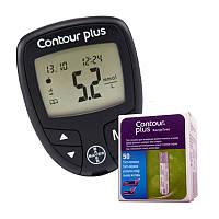 Глюкометр Contour Plus + 50 тест полоски Contour Plus