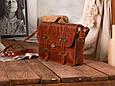 """Портфель шкіряний чоловічий на клапанах і кобурних гвинтах """"Folio"""", фото 2"""