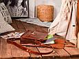 """Портфель шкіряний чоловічий на клапанах і кобурних гвинтах """"Folio"""", фото 4"""