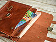 """Портфель шкіряний чоловічий на клапанах і кобурних гвинтах """"Folio"""", фото 5"""