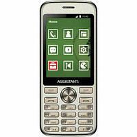 Телефон ASSISTANT AS-204 gold