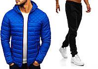 Куртка демисезонная + Штаны + СКИДКА Asos Hot x blue   Комплект мужской повседневный весенний осенний синий