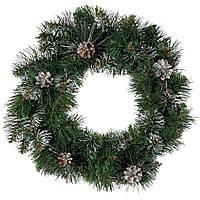 Венок Magictrees Новогодний еловый с шишками диаметр 50 см, фото 1
