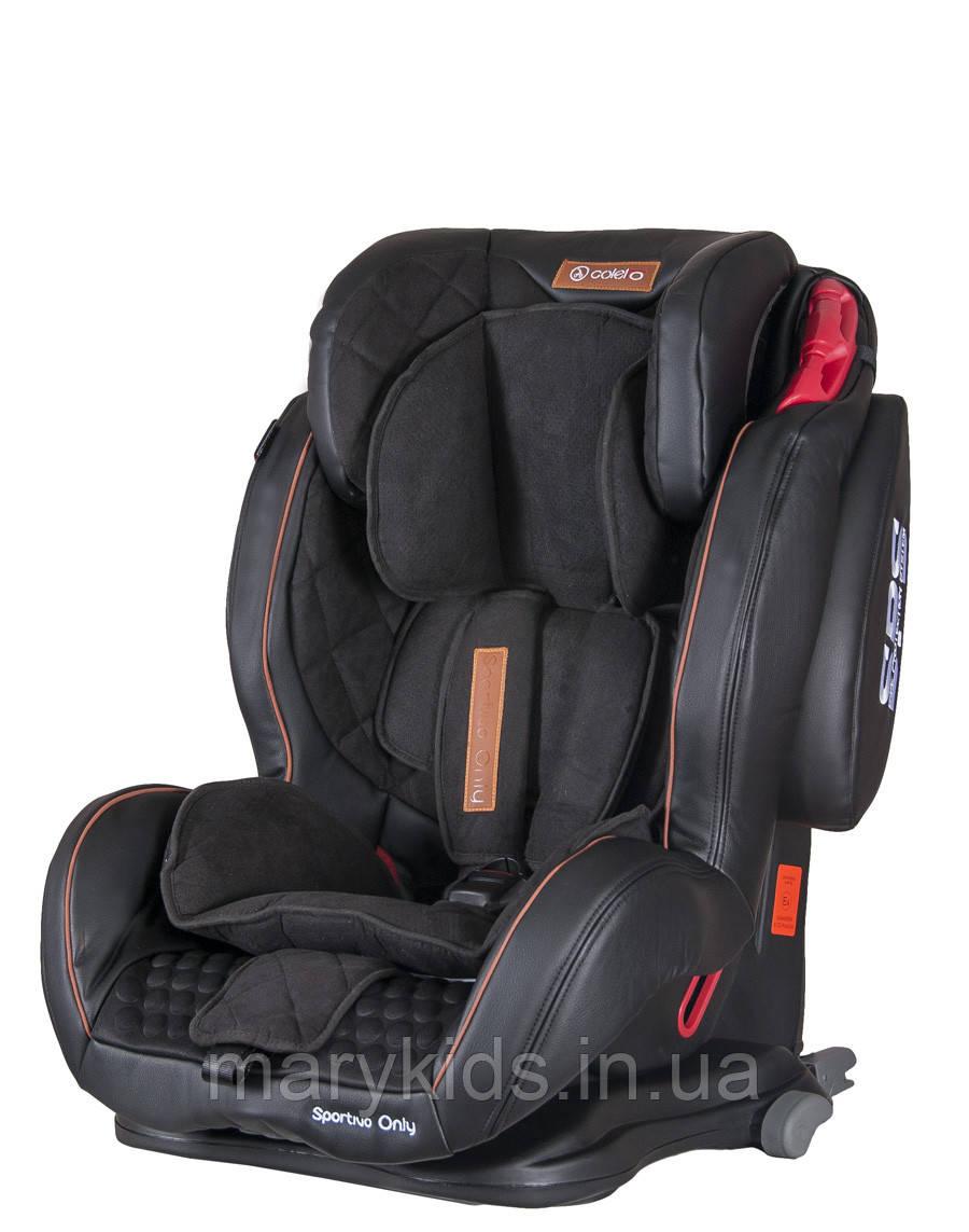 Детское автокресло Coletto Sportivo Only Isofix Black ( группа 1/2/3 9-36 кг)