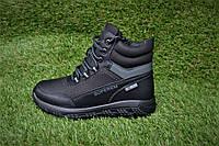 Детские подростковые ботинки на мальчика черные р32 - 37, фото 1