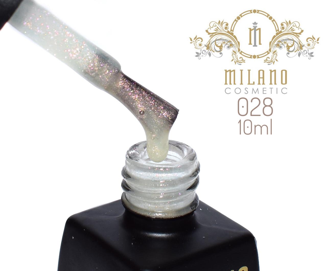 Гель лак MILANO  10ml № 028