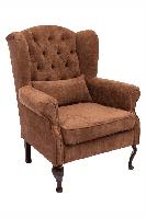 Комфортное мягкое кресло LORD / Лорд на деревянных ножках (цвета обивки на выбор)