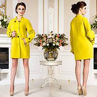 Женское демисезонное Пальто  свободного кроя F 759759 Желтый